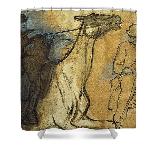 Two Studies Of Riders Shower Curtain