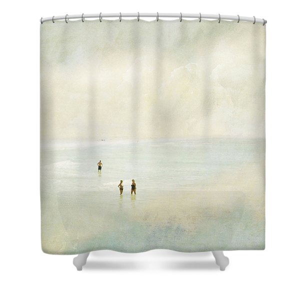 Two Women One Man Shower Curtain