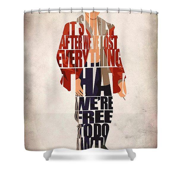 Tyler Durden Shower Curtain