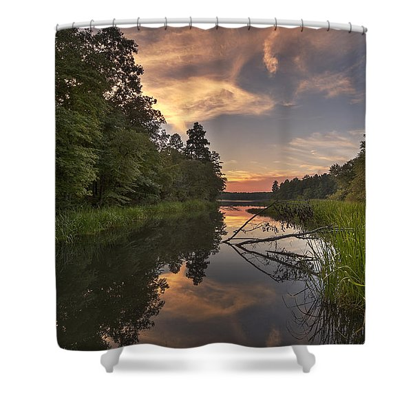 Tyler State Park Lake At Sunset Shower Curtain