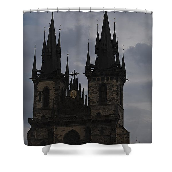 Tyn Curch Prague Shower Curtain