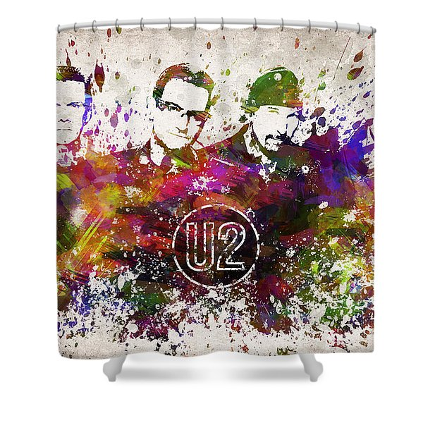 U2 In Color Shower Curtain