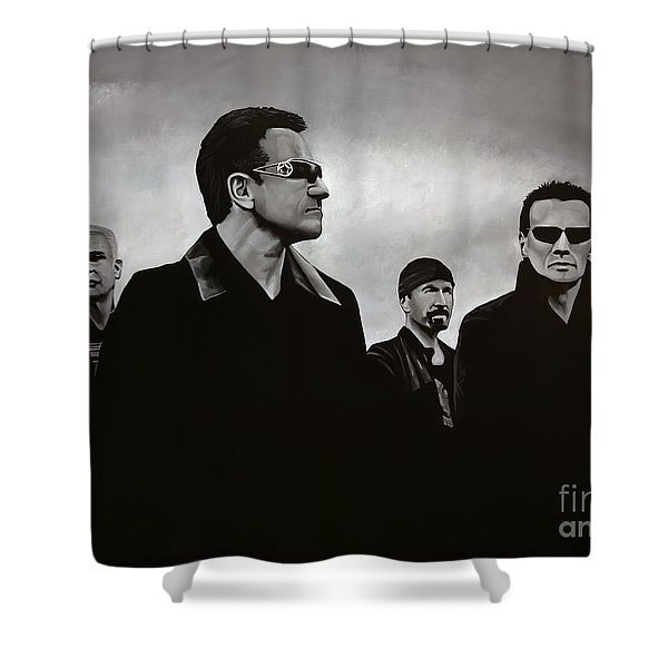 U2 Shower Curtain