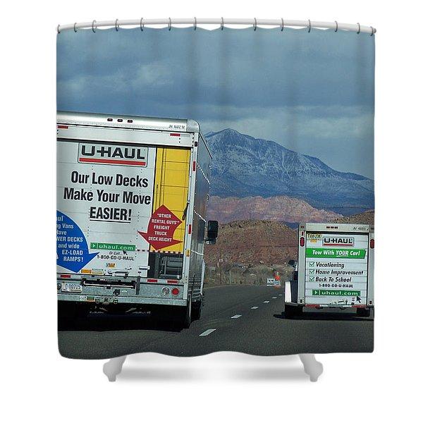 Uhaul On The Move Shower Curtain