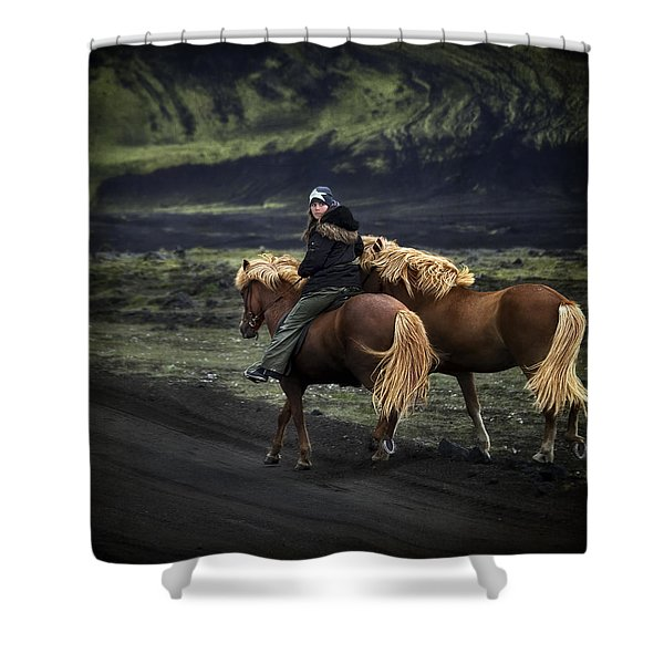 Unable To Stay. Unwilling To Leave. Shower Curtain