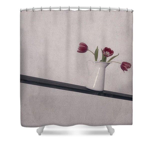 Unbalanced Flowers Shower Curtain