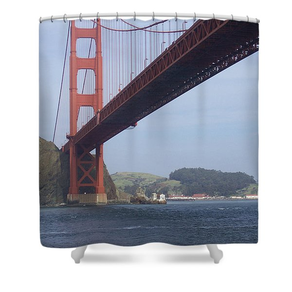 The Golden Gate Bridge San Francisco California Scenic Photography - Ai P. Nilson Shower Curtain