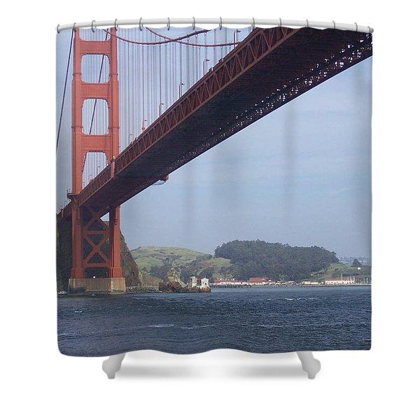 The Golden Gate Bridge San Francisco California Scenic Photography - Ai P. Nilson Shower Curtain