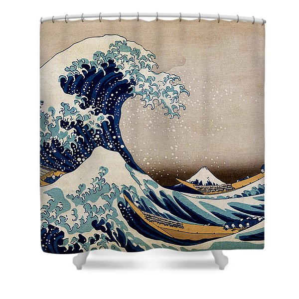 Under The Great Wave Off Kanagawa Shower Curtain