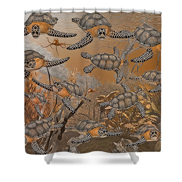 Under The Red Sea II Shower Curtain