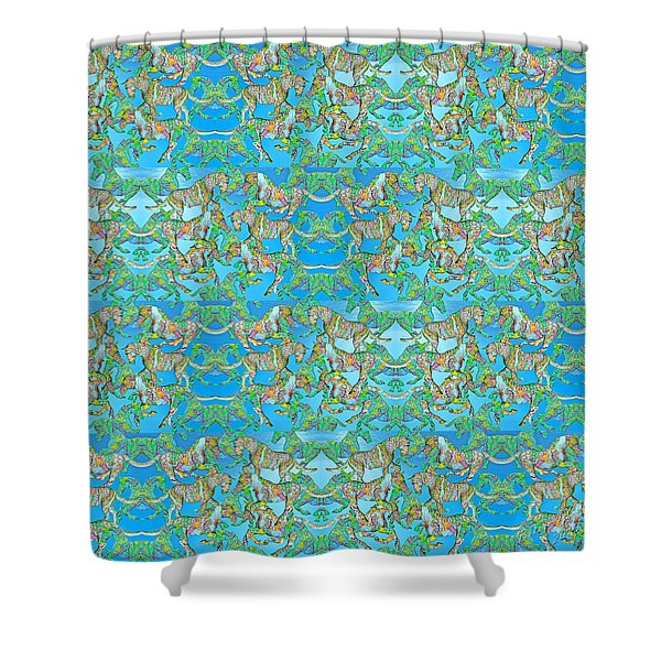 Under The Sea Horses Shower Curtain