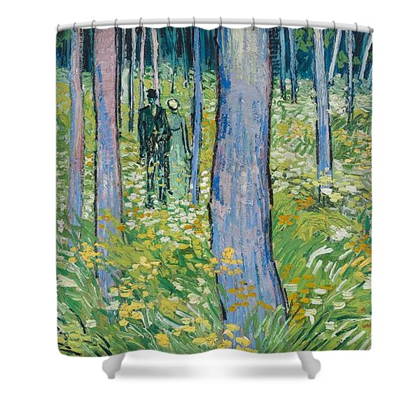 Undergrowth With Two Figures, 1890  Shower Curtain