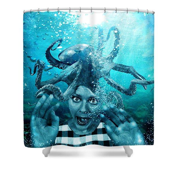 Underwater Nightmare Shower Curtain
