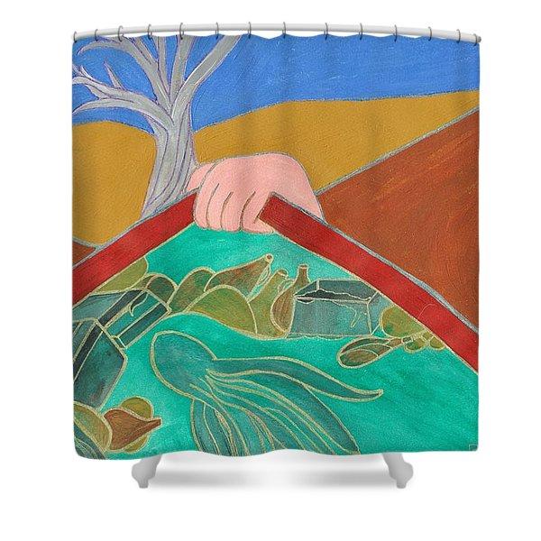Underwater Treasure Shower Curtain