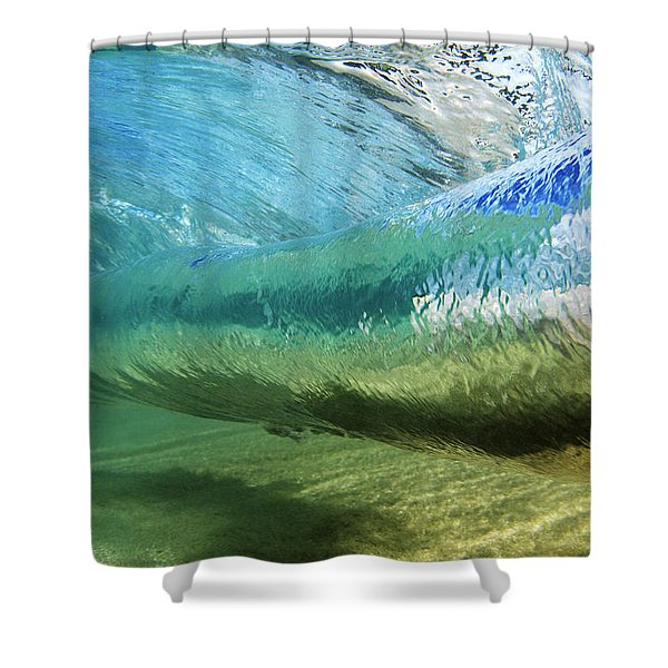 Underwater Wave Curl Shower Curtain