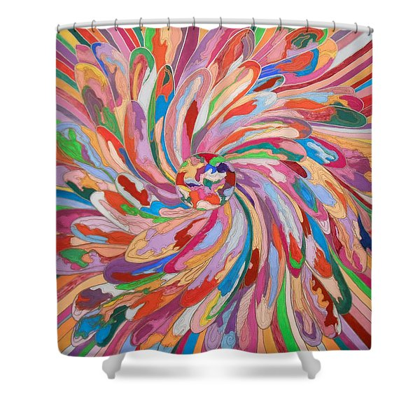 Unfolding Melody Shower Curtain