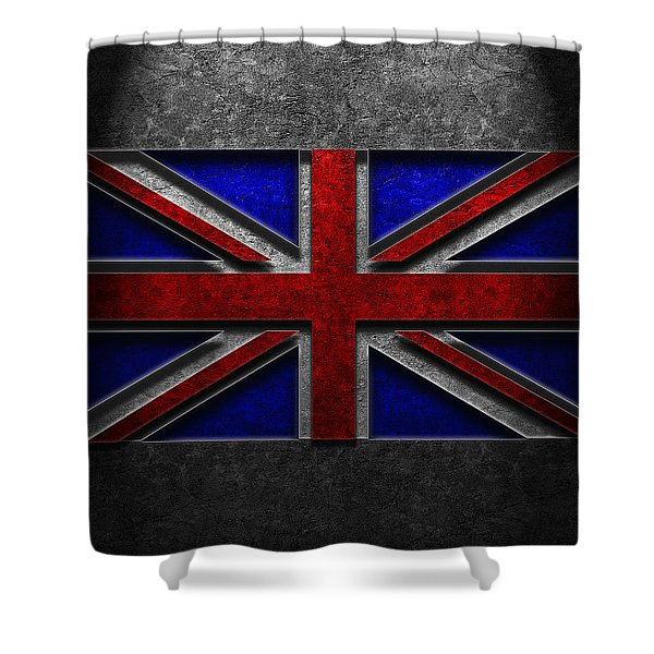 Union Jack Stone Texture Shower Curtain