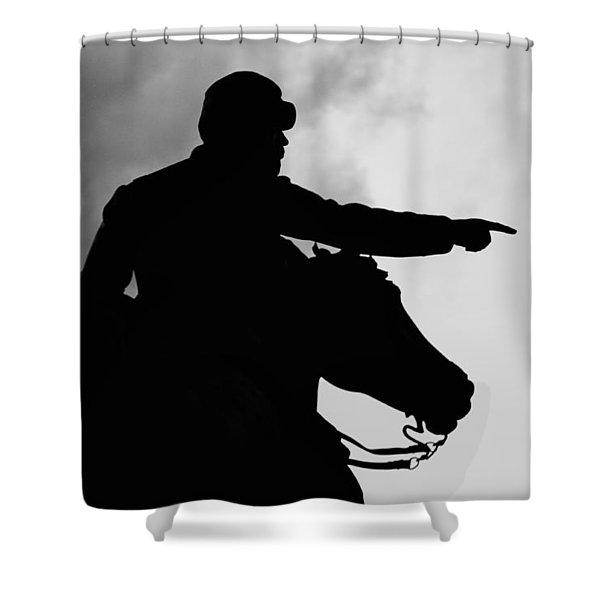 Union Silhouette  Shower Curtain