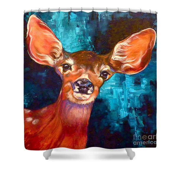 Uniquely Fawn Shower Curtain