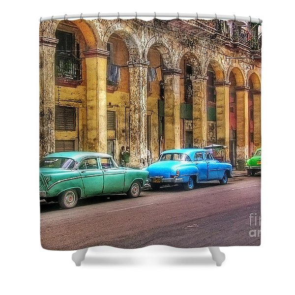 United Colors Of Coches Habaneros Shower Curtain