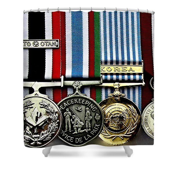United Nations Peacekeeping Korean War Nato Medals Shower Curtain