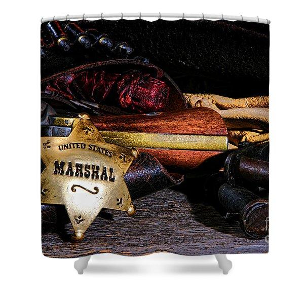United States Marshall Shield  Shower Curtain