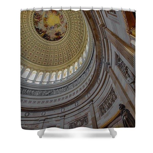Unites States Capitol Rotunda Shower Curtain
