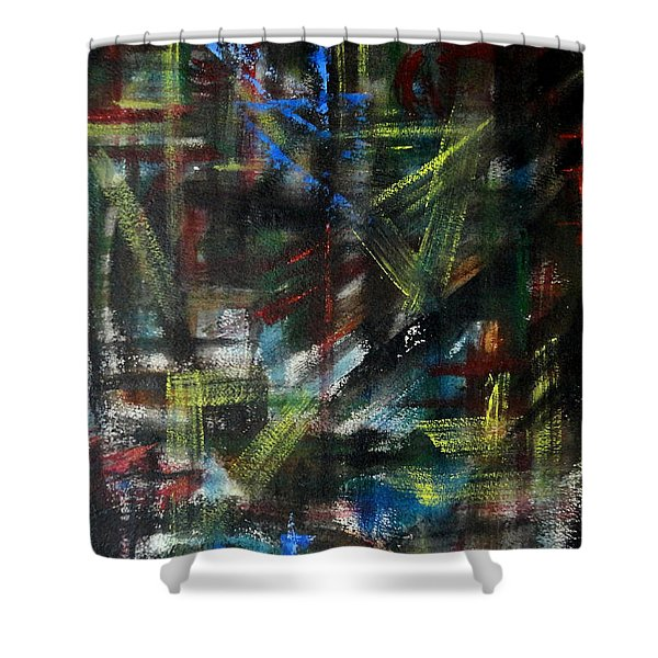 Red Spot Shower Curtain