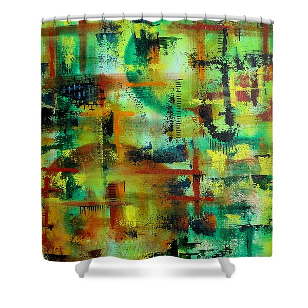 Two Sphere Shower Curtain