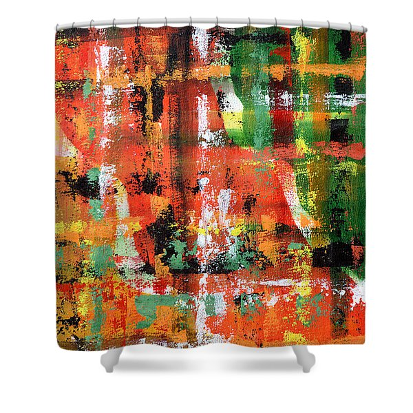 Three Parts Shower Curtain