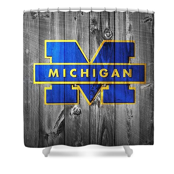 University Of Michigan Shower Curtain