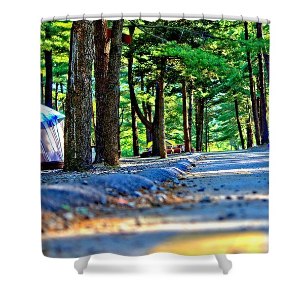 Unknown Destination Shower Curtain