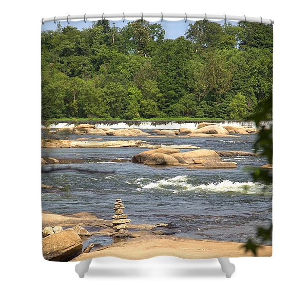 Unnatural Rock Formation Shower Curtain