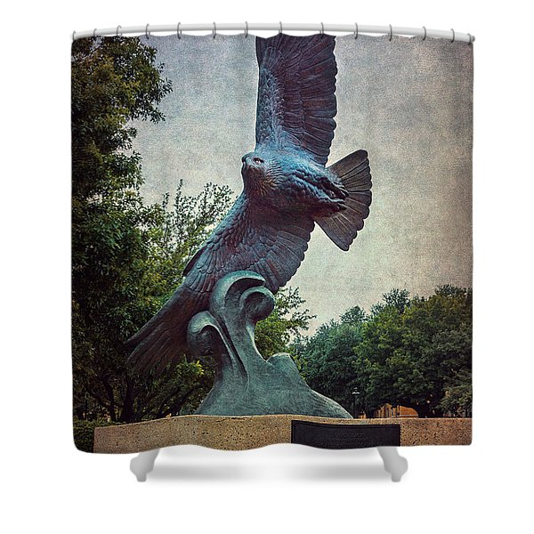 Unt Eagle In High Places Shower Curtain