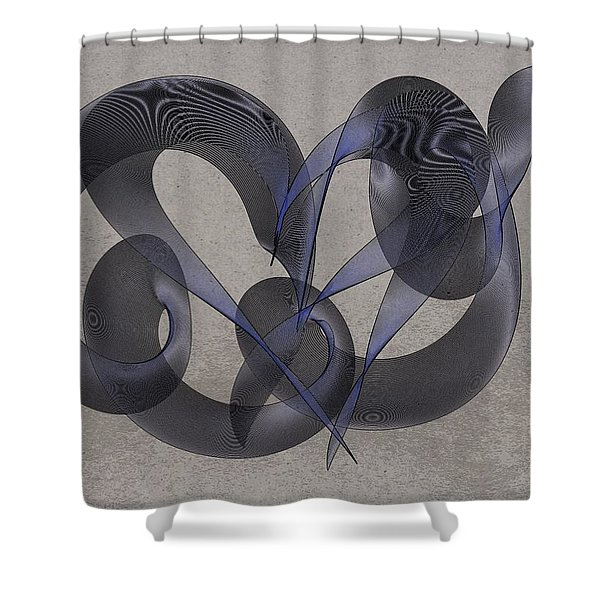 Untangled Hearts Shower Curtain