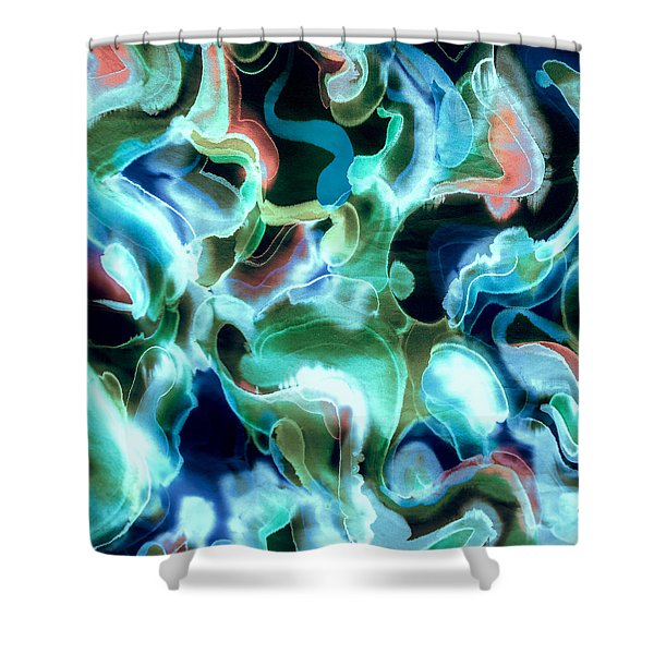 Lets Swim To The Moon Shower Curtain