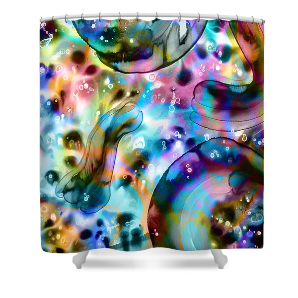 Molecules And Mankind Shower Curtain