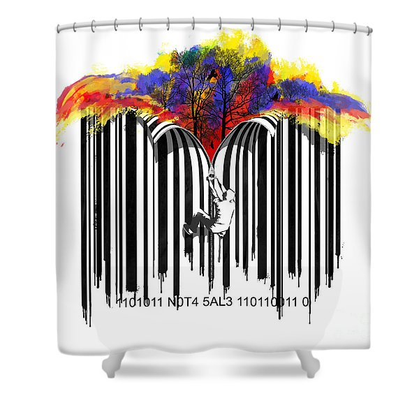 Unzip The Colour Code Shower Curtain