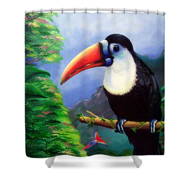Up Close Shower Curtain