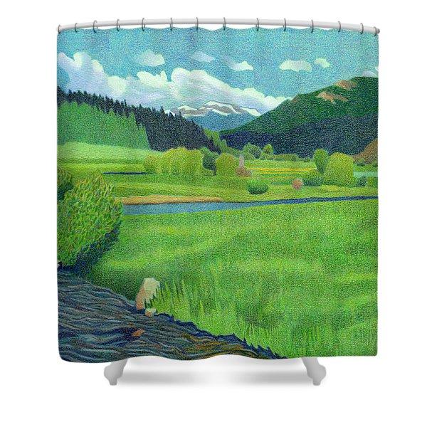 Upper Bear Creek Colorado Shower Curtain