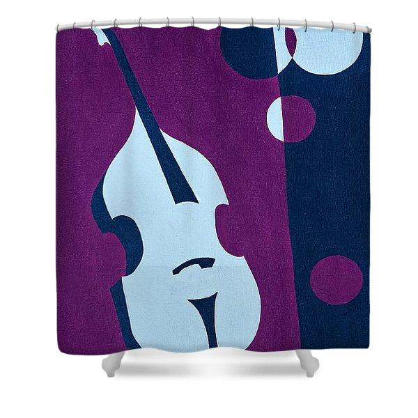 Upright Jazz Shower Curtain