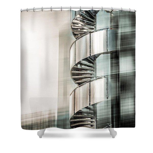 Urban Drill - Cyan Shower Curtain