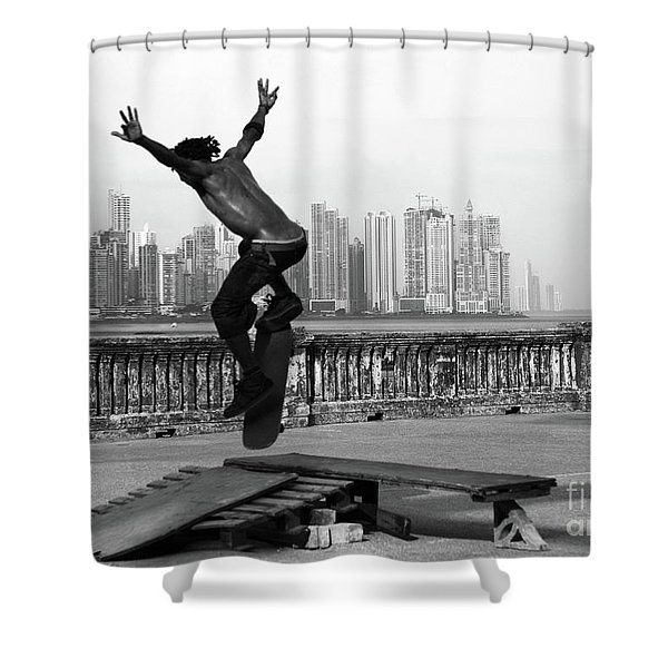 Urban Flight 2 Shower Curtain