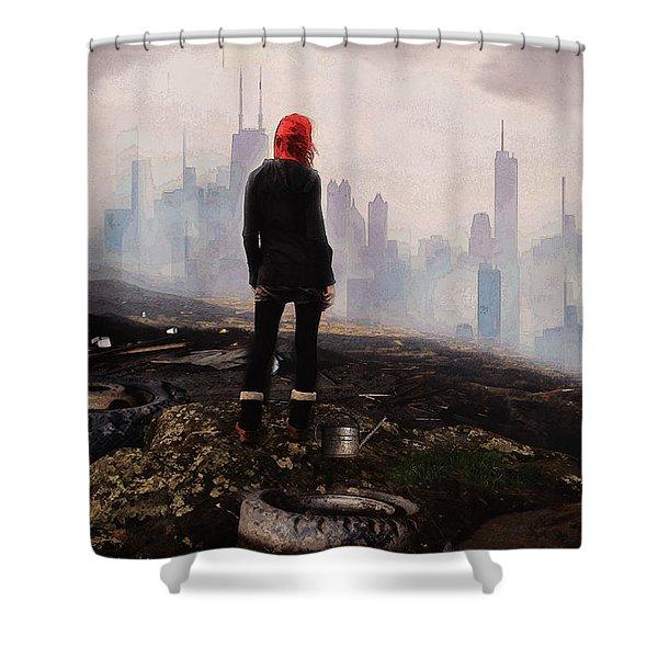 Urban Human Shower Curtain