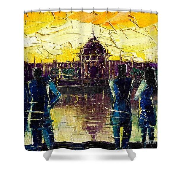 Urban Story - Hotel-dieu De Lyon Shower Curtain