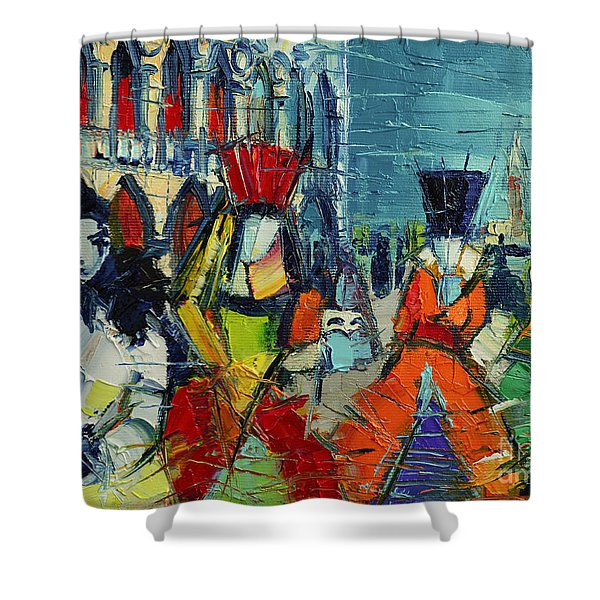 Urban Story - The Carnival Shower Curtain