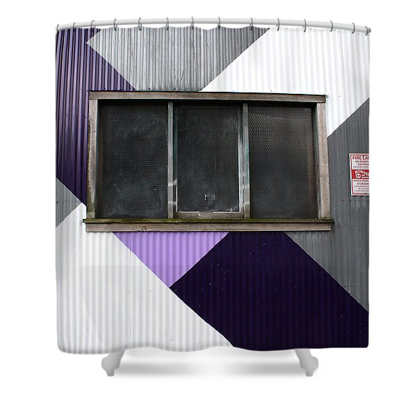 Urban Window- Photography Shower Curtain