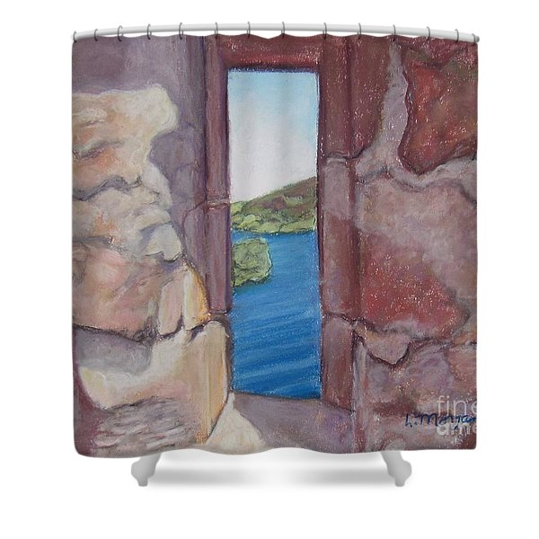 Archers' Window Urquhart Ruins Loch Ness Shower Curtain