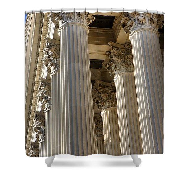 Us Archive Columns Shower Curtain