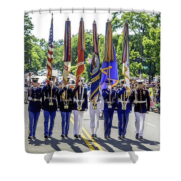 Us Armed Forces Color Guard Shower Curtain